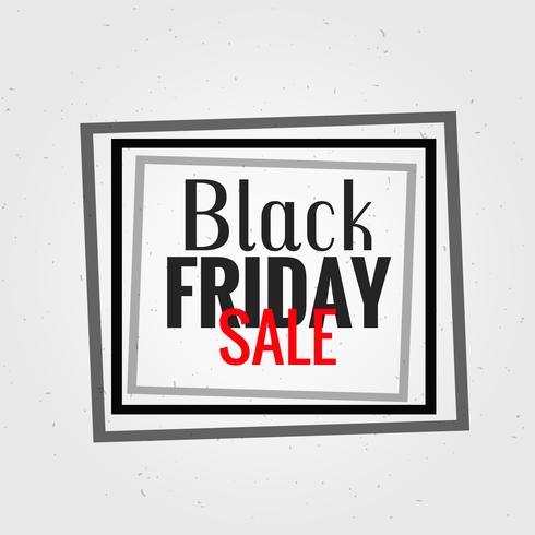 Fondo de viernes negro con ilustración de marco negro