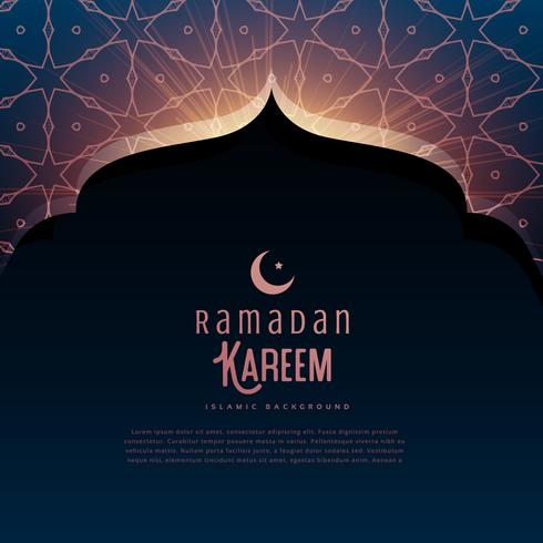 ramadan kareem festival greeting with mosque door and islamic pa