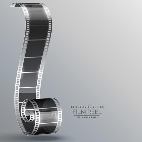 tira de película de vector en estilo 3d