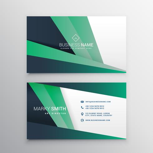 creative geometric business card design