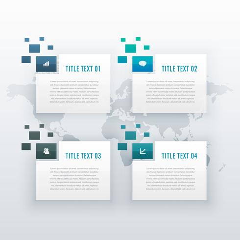 four steps options infographic template for business presentatio