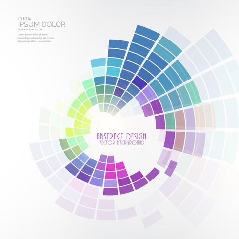 colorful circular mosaic design vector background