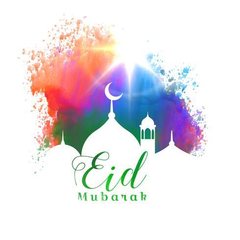 beautiful eid mubarak islamic festival greeting card design