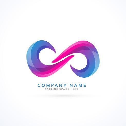 vibrante logo infinito creativo