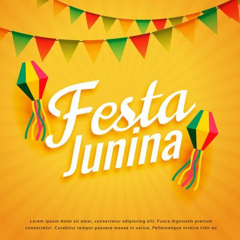 elegant festa junina affisch helgdag hälsning
