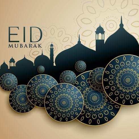 islamic design for eid mubarak festival