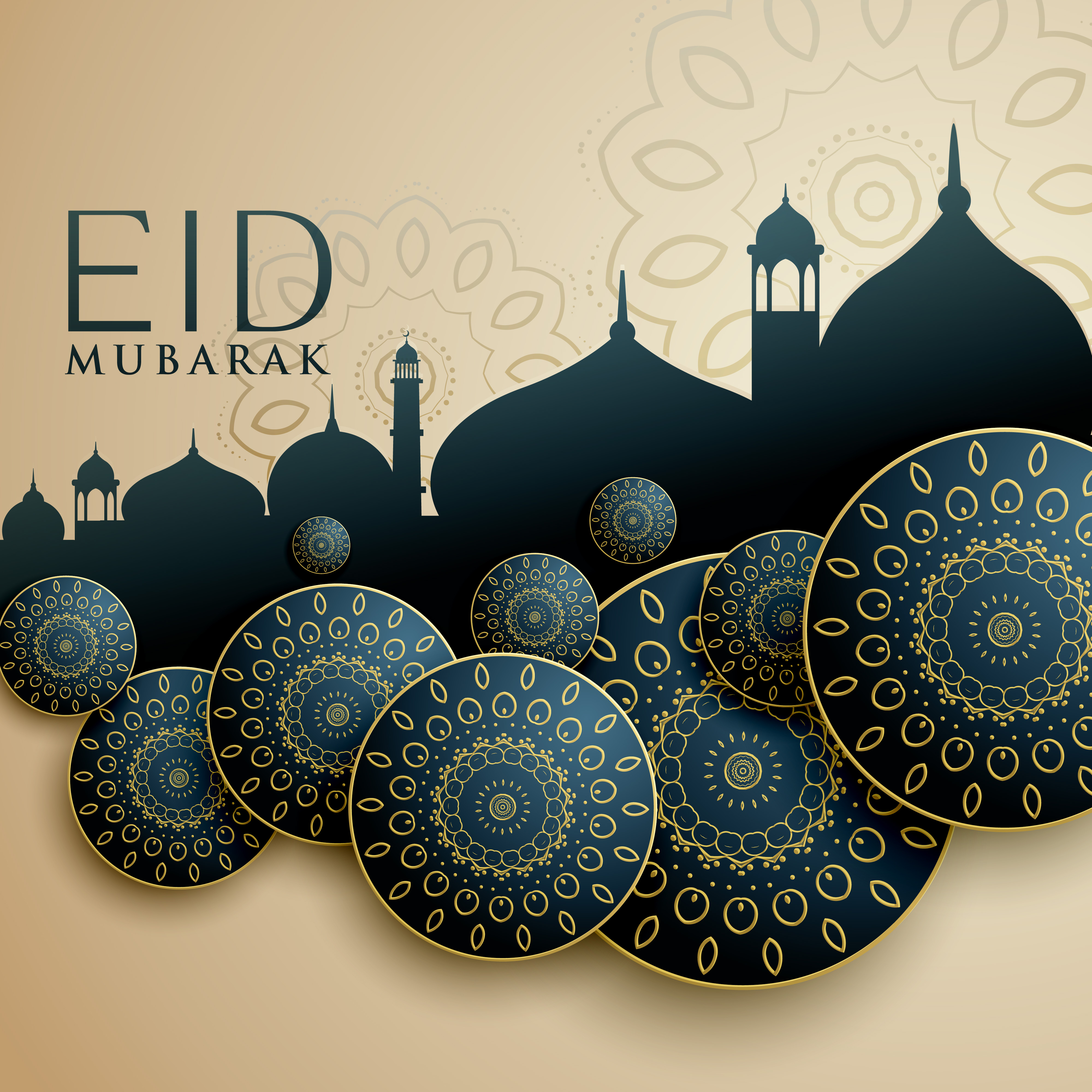 Islamic design for eid mubarak festival - Download Free