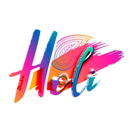 creative happy holi celebration background