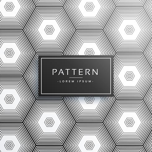 abstract hexagonal line pattern background