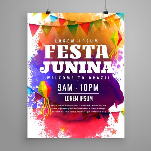 festa junina uitnodiging flyer sjabloonontwerp