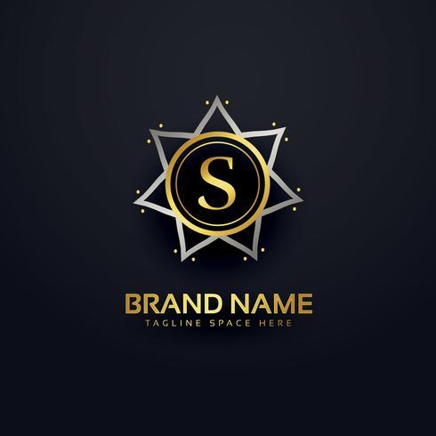 letter S logo design in premium style