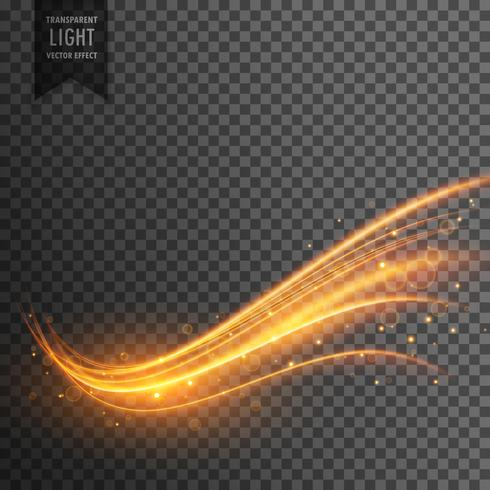 stylish transparent light effect in wavy shape with trail and sp