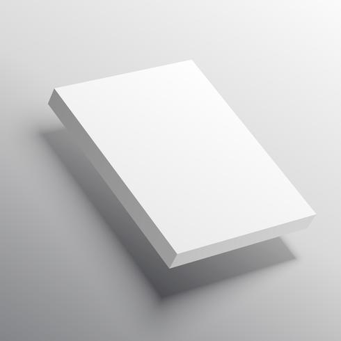 mockup template of 3d stock of pages or box