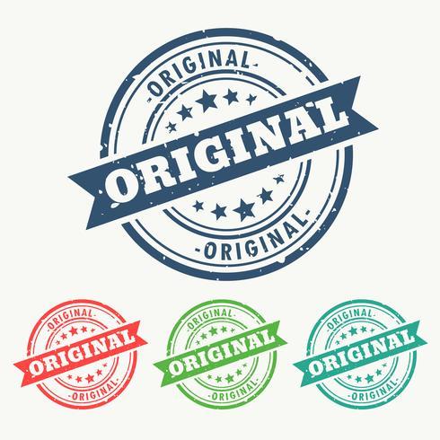 Original-Stempel im Grunge-Stil