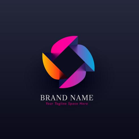 abstract colorful concept logo design vector