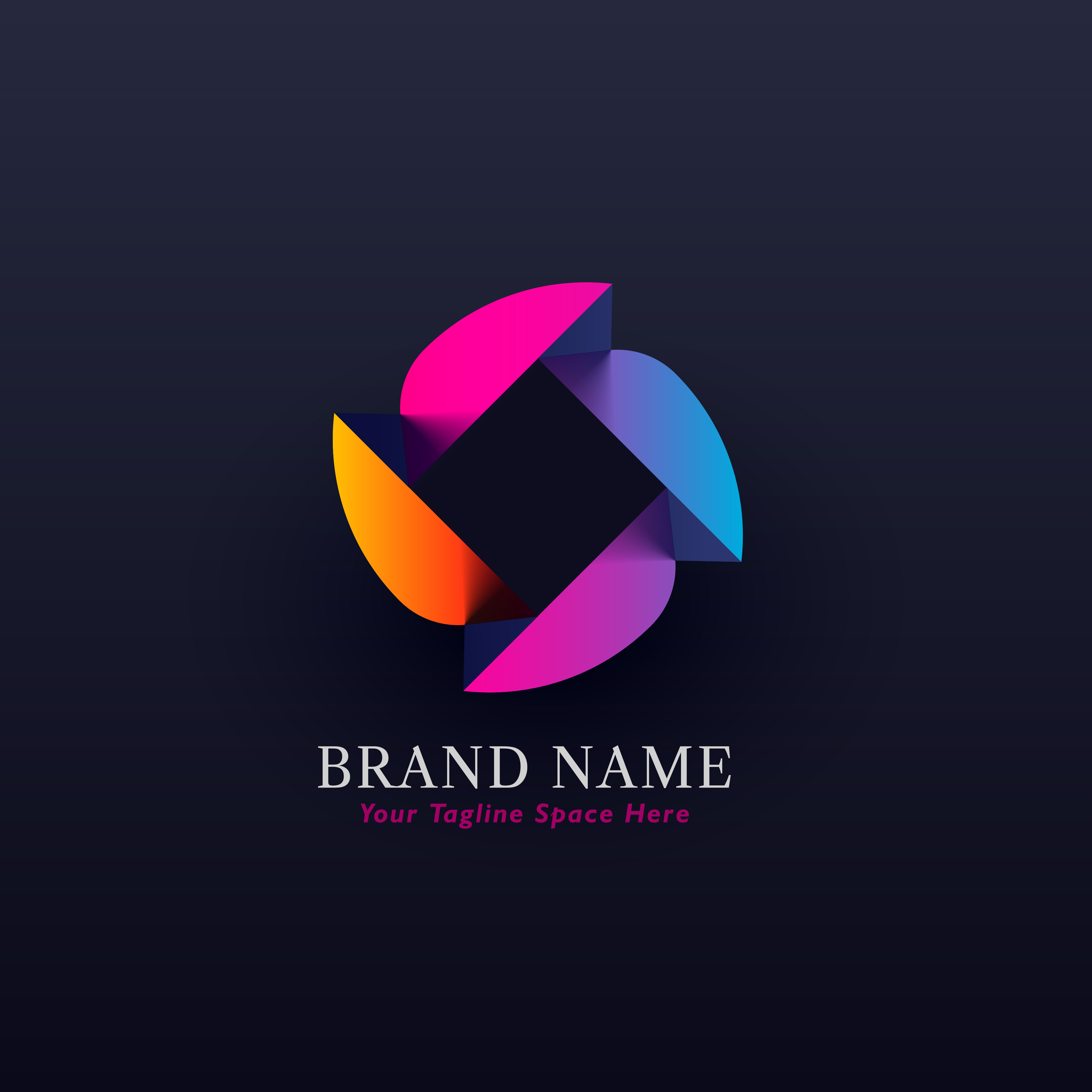 abstract colorful concept logo design vector download