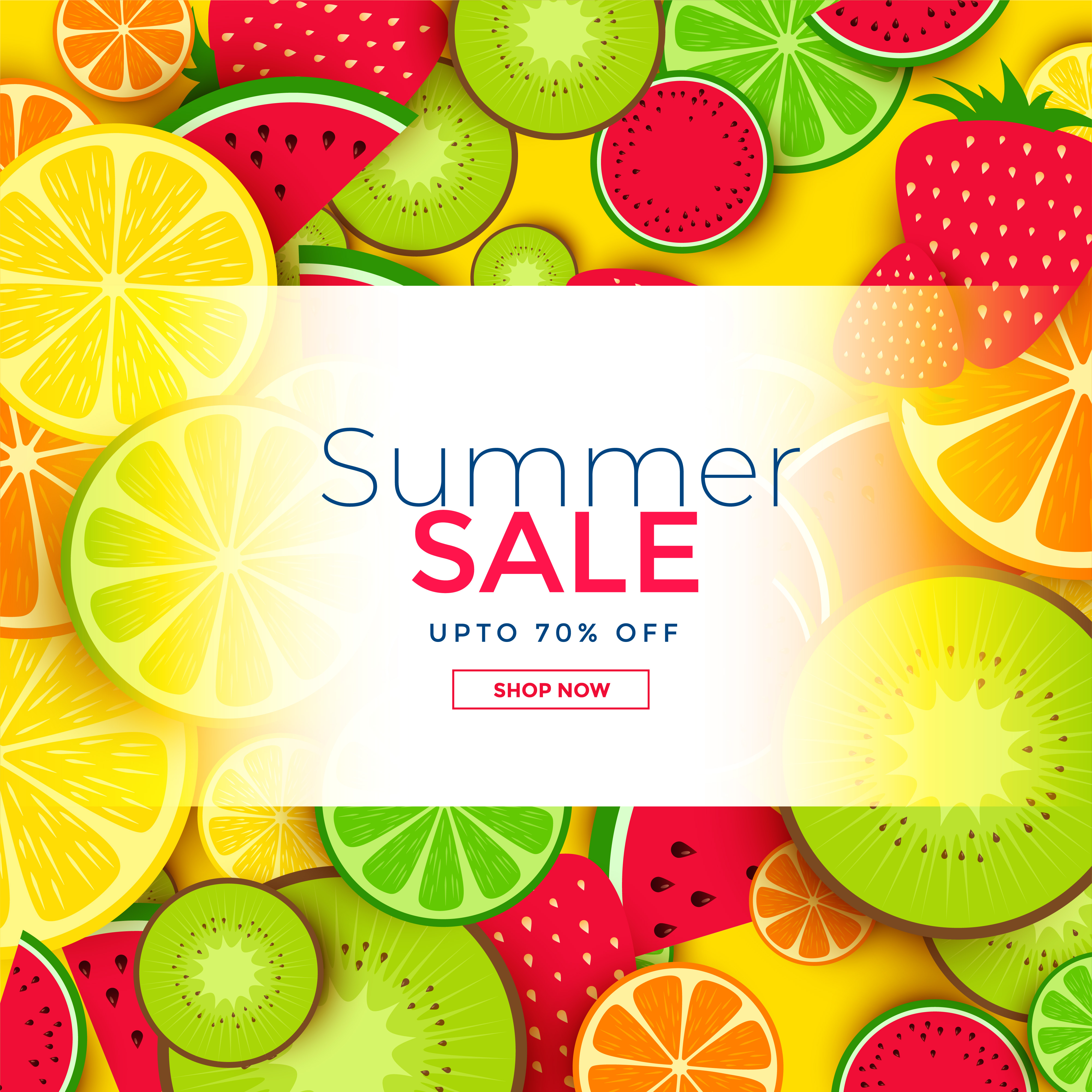 fruits background for summer sale download free vector