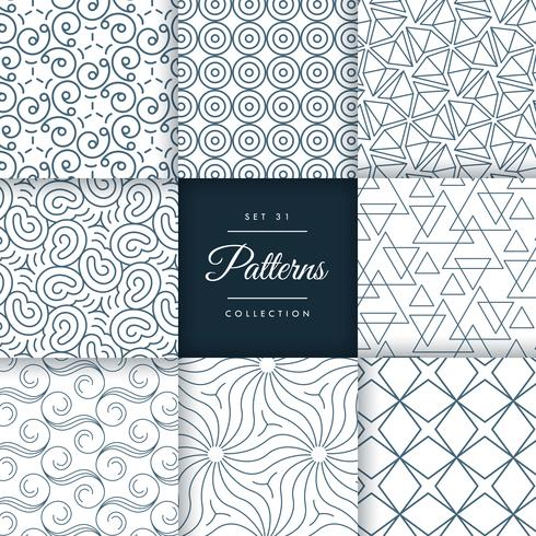 collection of line pattern background design