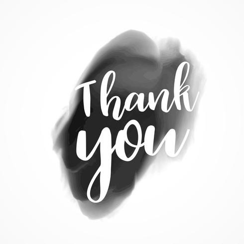 thank you written on black ink splash background