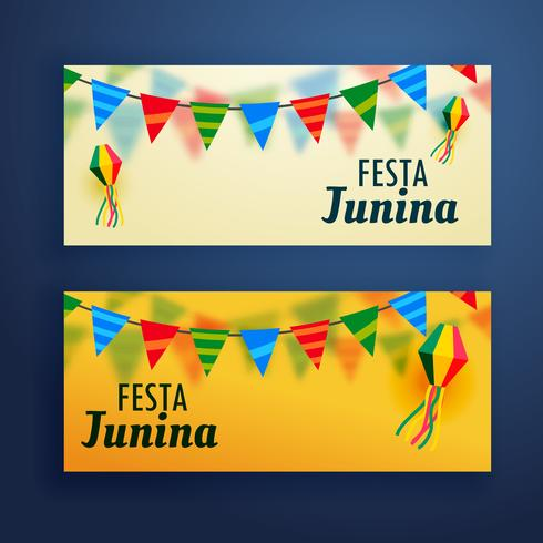 festa junina banners set of two