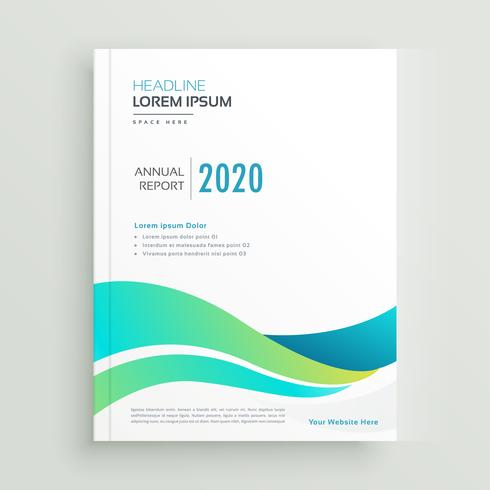 elegant wavy business brochure vector design
