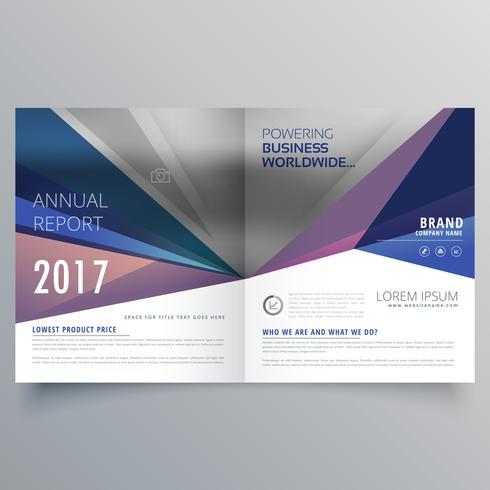 abstracte bi vouwen zakelijke brochure ontwerpsjabloon