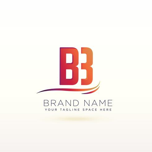 letter B lovely logo design template