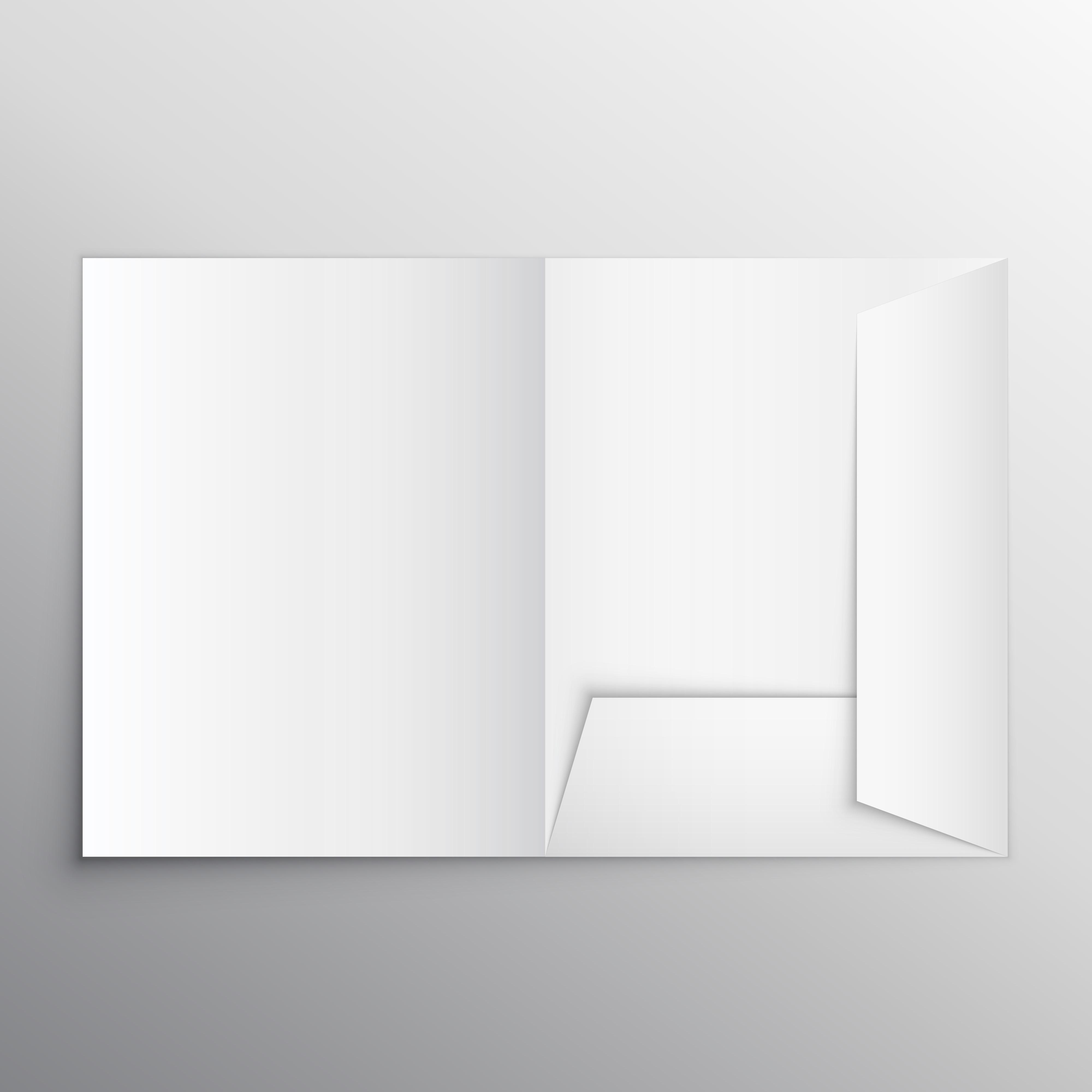 realistic blank folder design template mockup download