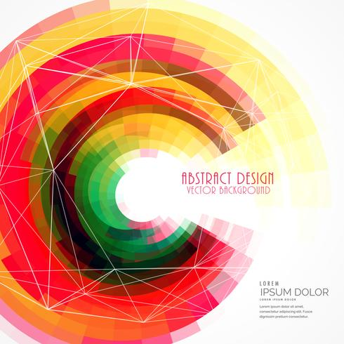 colorful abstract circle frame vector background