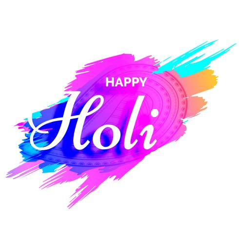 creative holi design with colors splash