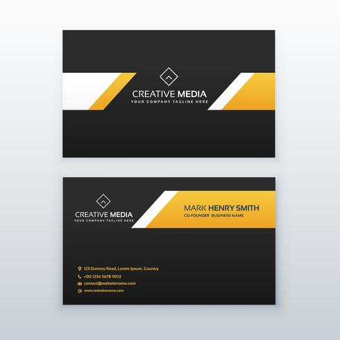 yellow and black elegant business card design
