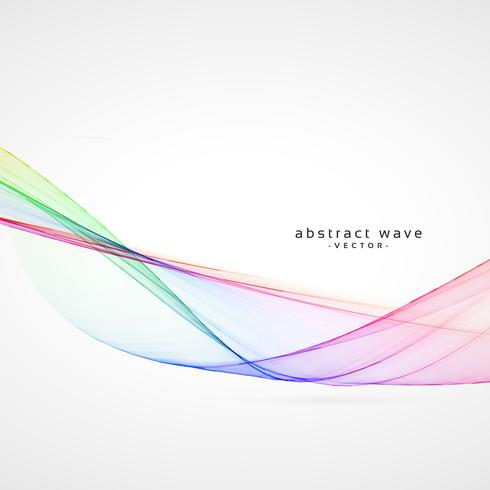 smooth colorful abstract wave vector background