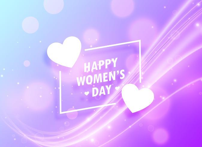 Lycklig kvinna dag hälsning design bakgrund för mars 8