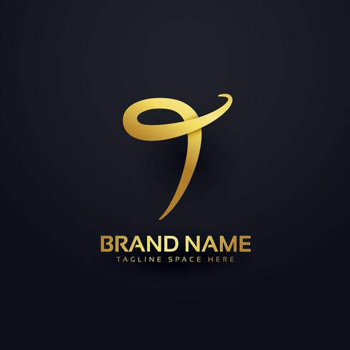 abstract letter T logo design concept