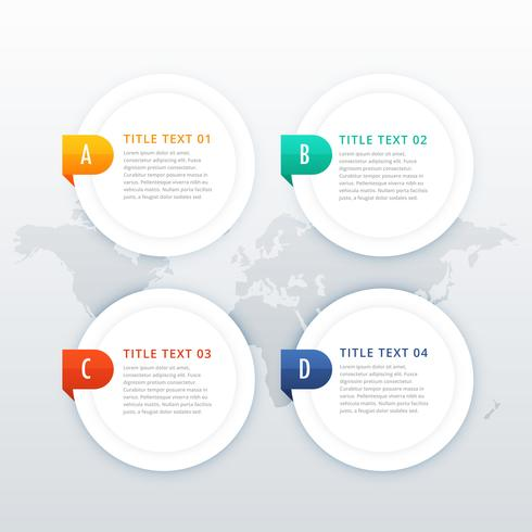 four options white infographic template