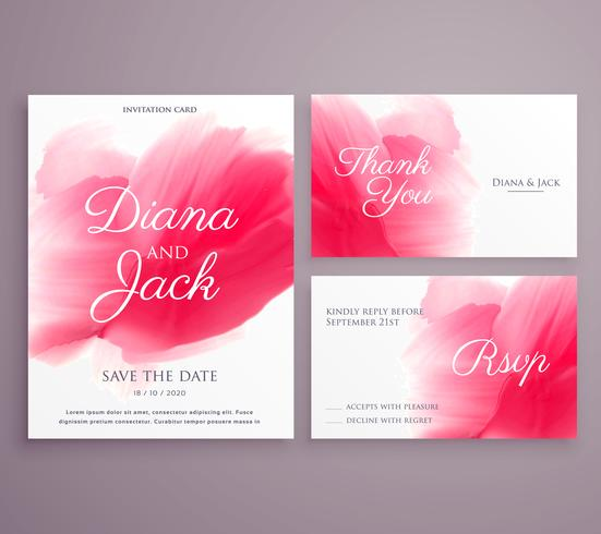 save the date wedding invitation card with paint stroke on backg