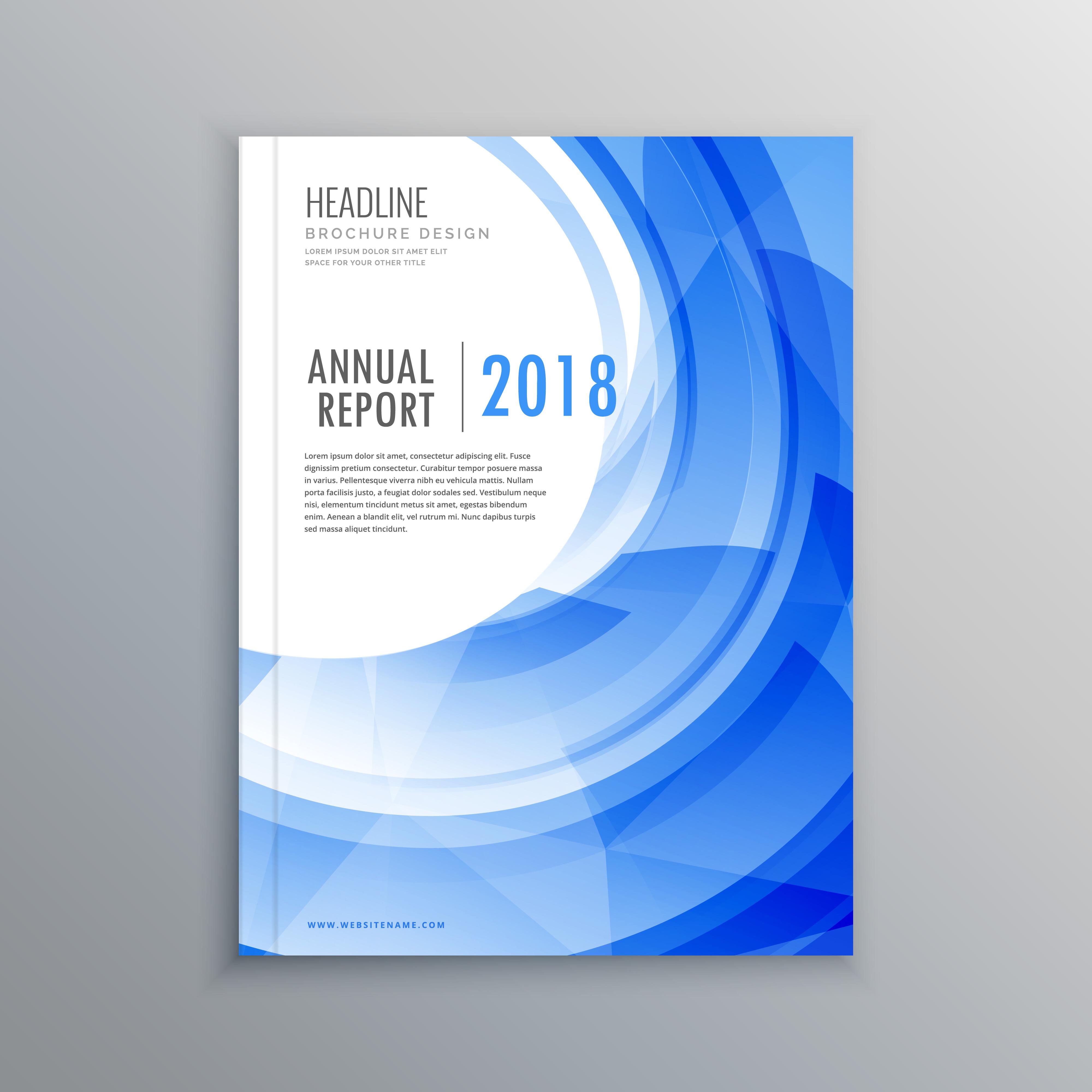 amazing brochure designs - amazing brochure flyer design template with blue wave