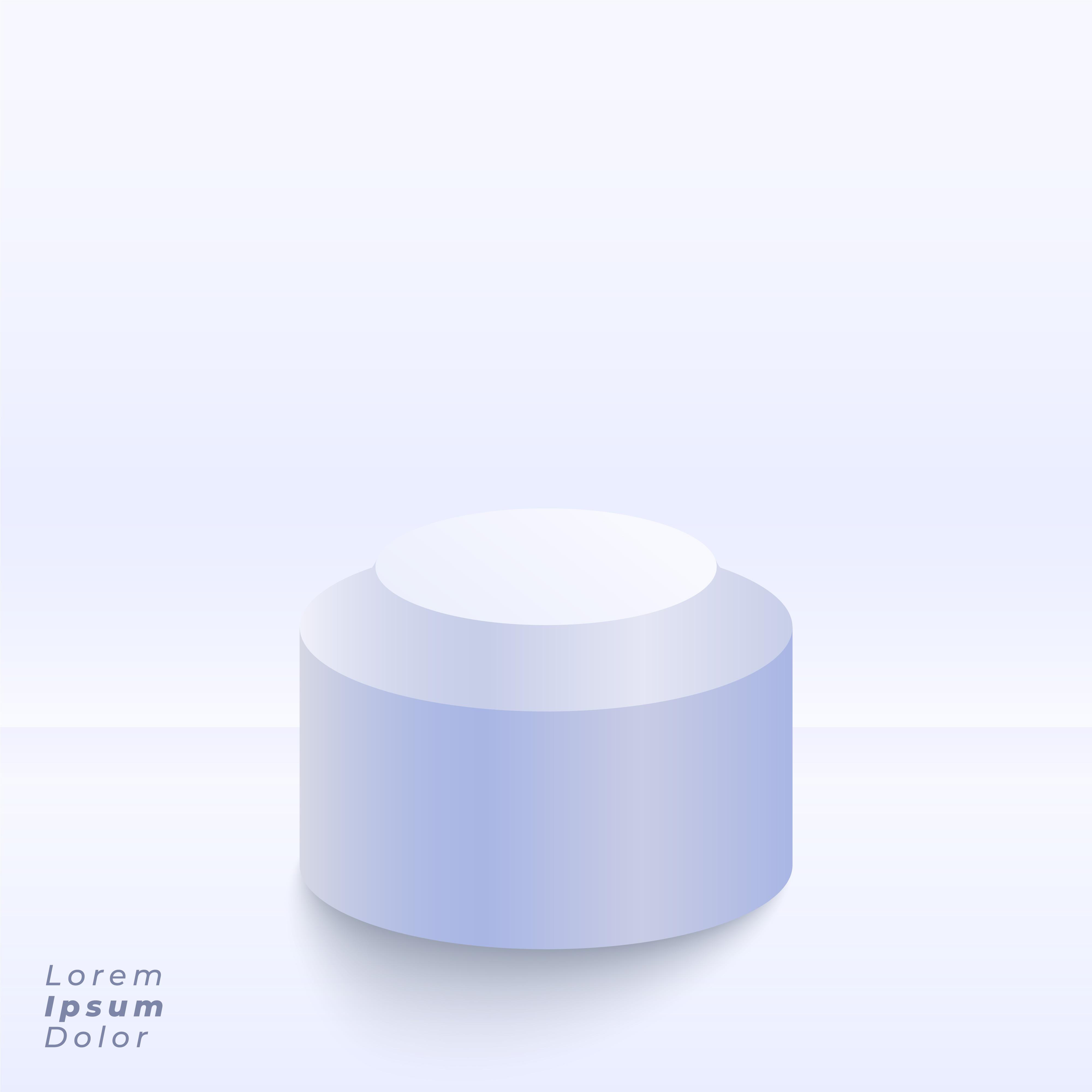 White Studio Background With Podium: Studio Stage Background With 3d Podium For Presentation