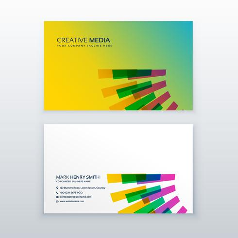 creative colorful brand business card design template