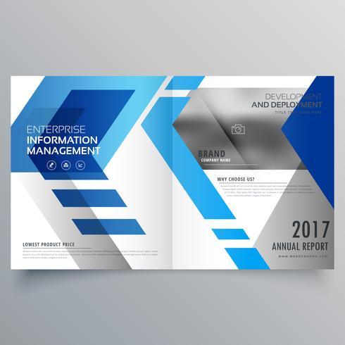 elegante modello di progettazione brochure blu bifold o copertina di una rivista l