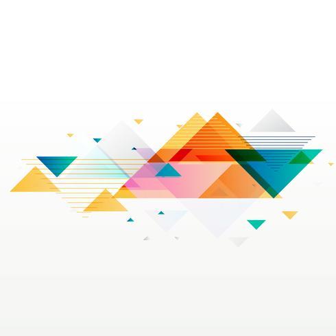 fundo de formas abstratas geométricas triângulo colorido