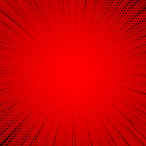 reticulação de fundo em quadrinhos vermelho retrô com raios