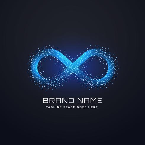 vetor de design de conceito futurista infinito logotipo