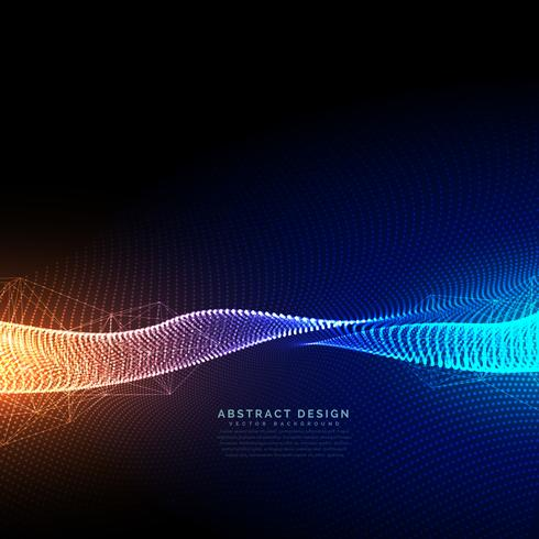 digital particles technology background with beautiful light eff