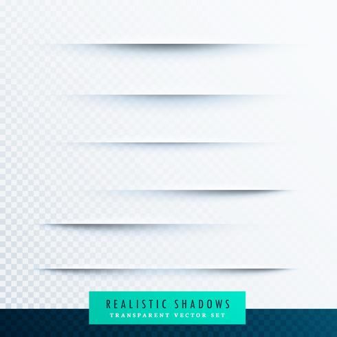realistic paper shadows effect collection background
