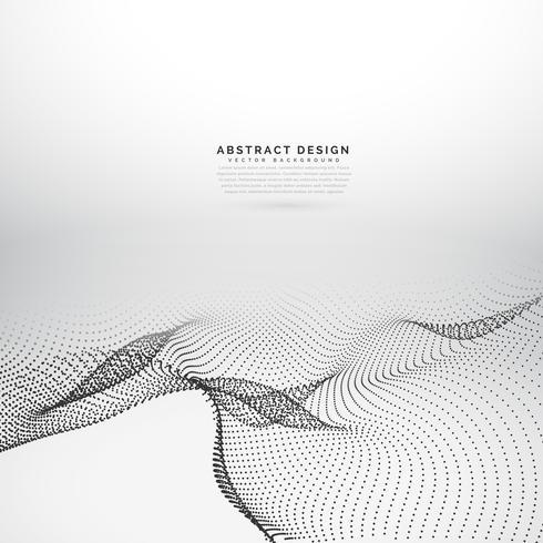 abstracte 3d golvende deeltjes achtergrond