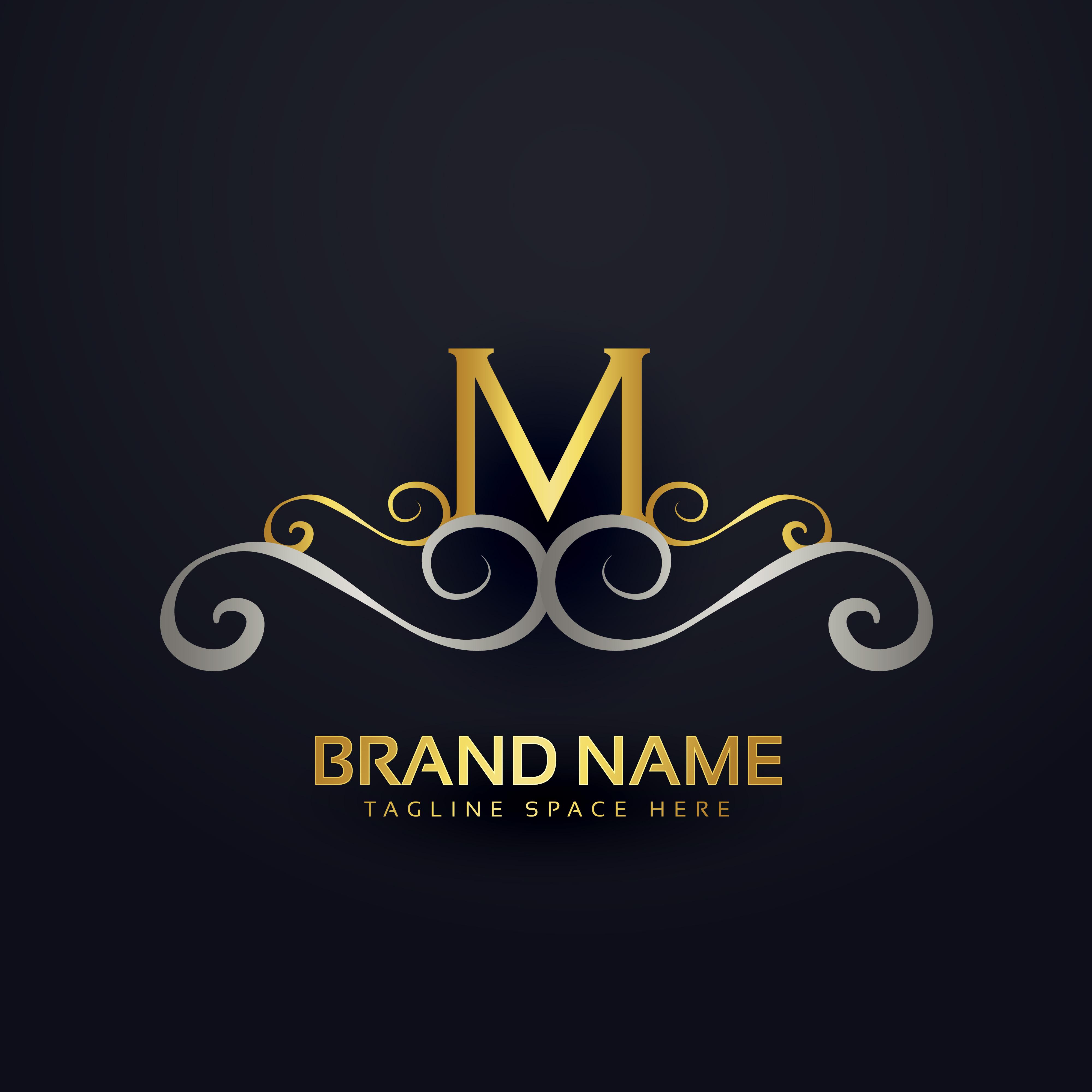 M Logo Design premium letter M logo ...