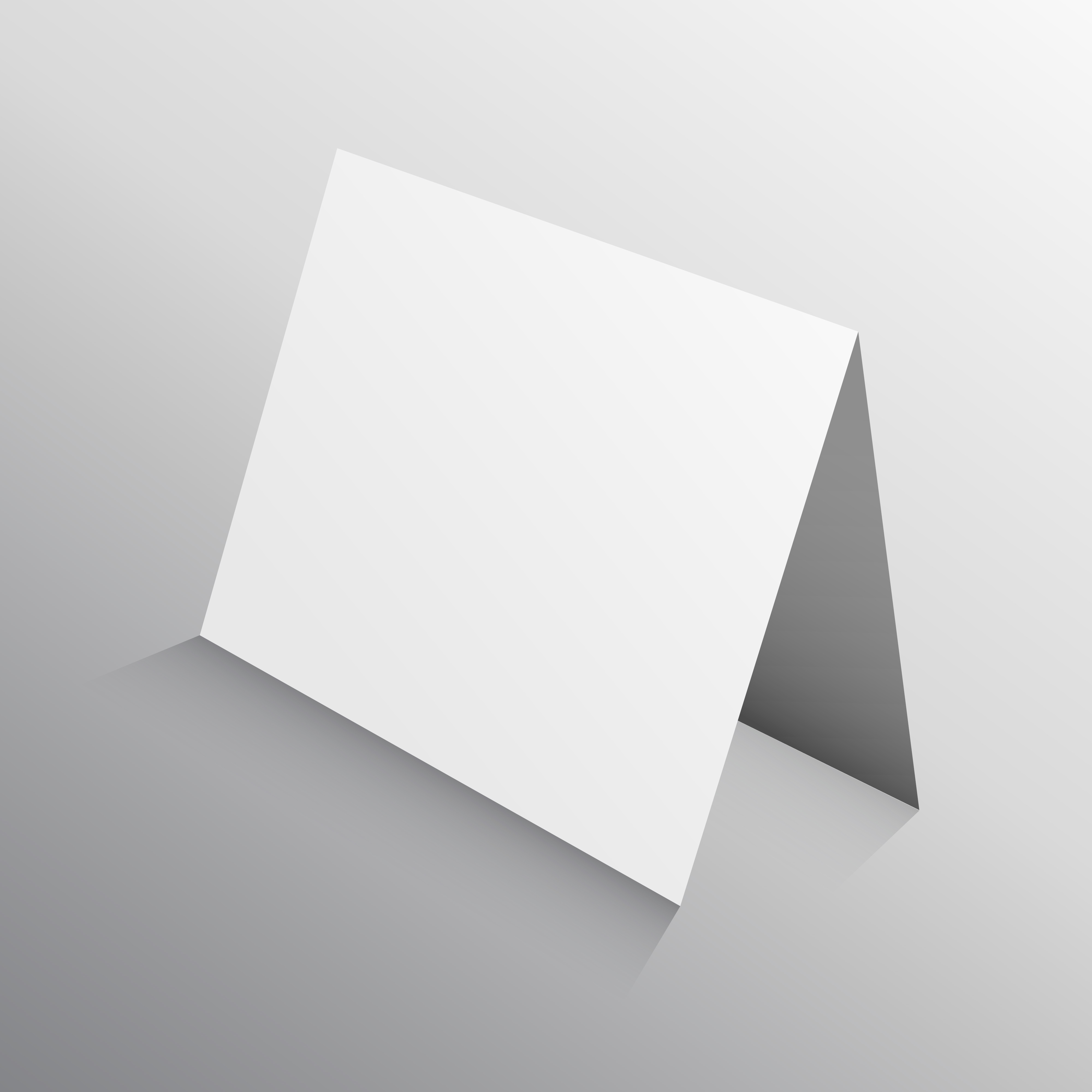 perspective folded paper card in 3d  mockup template