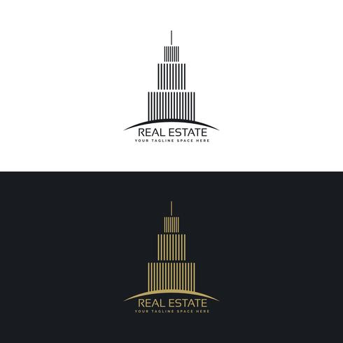 real estate or hotel logo design template
