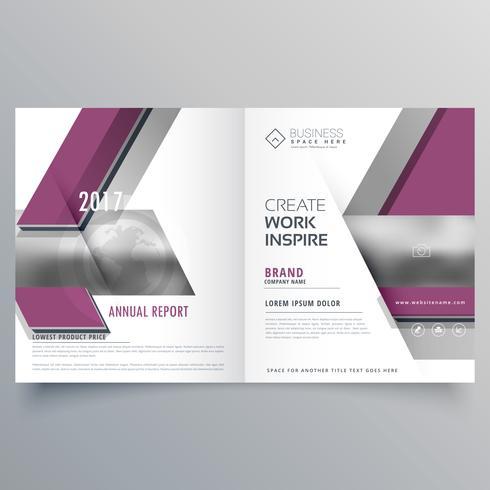 portada de la revista folleto de plantilla de diseño de folleto de bi fold